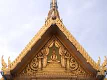 Golden gable chapel. Of sothon Wararam worawihan temple Stock Photos