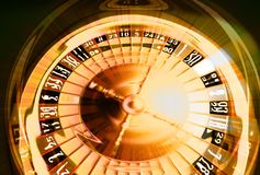 Golden gambling composition Stock Photo