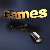 Golden Games online Royalty Free Stock Photo