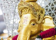 Golden Ganesh  Elephant god statue in hinduism mythology  with g Stock Image