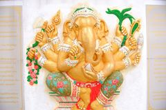 Golden Ganesh statue Royalty Free Stock Photo