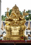 Golden Ganesha (Ganesh, Ganapati) Statue. Ganesha (Ganesh, Ganapati) is a widely worshiped deity in the Hindu pantheon. His image is found throughout India and Stock Image