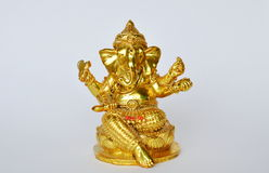 Golden Ganesha statue Hinduism elephant head god worship for luck and success Stock Photo