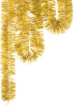 Golden Garland. For Christmas decoration; isolated on white Stock Image