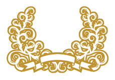 Golden Garland Royalty Free Stock Images