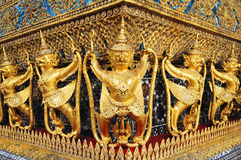 Golden garuda in royal grand palace Stock Image