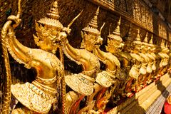 Golden garuda at Royal Palace, Bangkok,T Stock Image