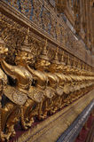 Golden garuda sculpture. In the Temple of Emerald Buddha,Bangkok Royalty Free Stock Images