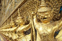 Golden garuda statue Royalty Free Stock Photo