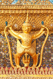 Golden Garuda statue Stock Images