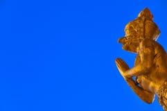 Golden garuda statue Stock Images