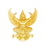 Golden garuda statue isolated Stock Photos