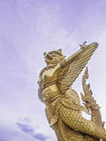 Golden Garuda statue,Thailand Stock Images