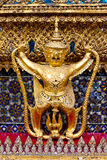 Golden garuda statue at Wat Phra Kaew Stock Photo