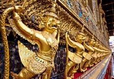 Golden garuda statue at Wat Phra Kaew Stock Photos