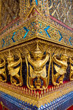 Golden garuda statue at Wat Phra Kaew Stock Images