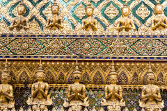 Golden garuda statues at Grand Palace Royalty Free Stock Images