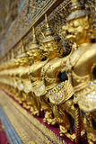 Golden garuda statues Royalty Free Stock Image
