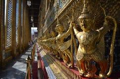 Golden Garuda. Garuda on the temple wall Stock Photos