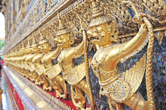 Golden Garuda at Wat Phar kaew Royalty Free Stock Photos