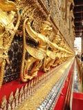 Golden Garuda of Wat Phra Kaew at Bangkok Stock Photos