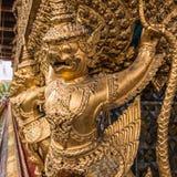 Golden Garuda of Wat Phra Kaew Stock Images