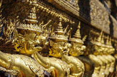 Golden Garuda of Wat Phra Kaew at Bangkok Royalty Free Stock Photo