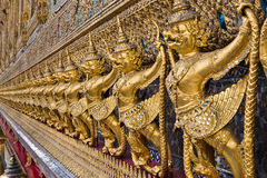 Golden Garuda of Wat Phra Kaew Temple Stock Photos
