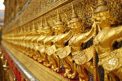 Golden garuda of wat prakaew Royalty Free Stock Photography
