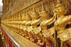Golden garuda of wat prakaew Royalty Free Stock Photography