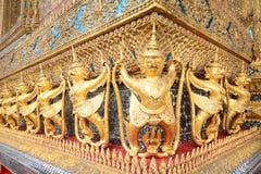 Golden garuda of wat prakaew Stock Photos