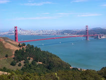 Golden Gate. View from Marine. It's the most famous bridge in the world. San Francisco, California, U.S.A stock photos
