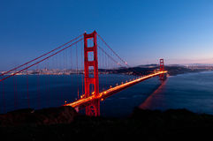 Golden Gate. Bridge in Sanfrancisco during dusk Royalty Free Stock Image