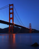Golden Gate. The Golden Gate Bridge at dusk Royalty Free Stock Photography