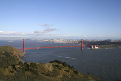 The Golden Gate. Golden Gate Bridge with San Francisco in background Royalty Free Stock Photo
