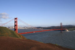 The Golden Gate. Golden Gate Bridge with San Francisco in background Royalty Free Stock Images