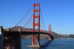 The Golden gate. Thr Golden gate bridge in San Fransisco Royalty Free Stock Image