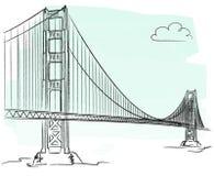 Golden Gate vector Royalty Free Stock Photo