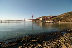 Golden Gate. The Golden Gate Bridge in San Francisco, California Royalty Free Stock Image