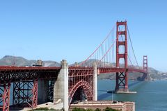 Golden Gate. The Golden Gate bridge in San Francisco California Stock Image