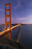 Golden Gate. Bridge and San Francisco Bay by Night Royalty Free Stock Photos