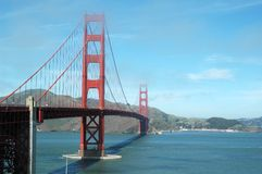 Golden gate. A view of the bridge Golden Gate stock photography