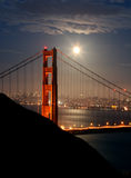 Golden Gate. Bridege at night Royalty Free Stock Images