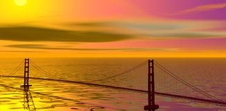 Golden gate. Stock Images