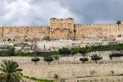 Golden gate of Jerusalem royalty free stock photos