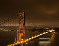 Free Golden Gate At Night Stock Image - 4300941