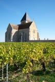 Golden Gate av Bourgogne, by av Chablis i den Bourgogne regionen som är berömd för vitt vin royaltyfria foton