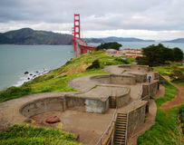 Golden Gate from Battery Boutelle Royalty Free Stock Images