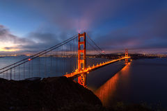 Golden Gate Bay in San Francisco area, California Royalty Free Stock Image