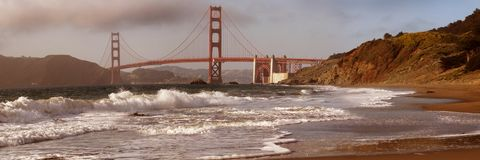 Golden Gate from the beach Royalty Free Stock Images